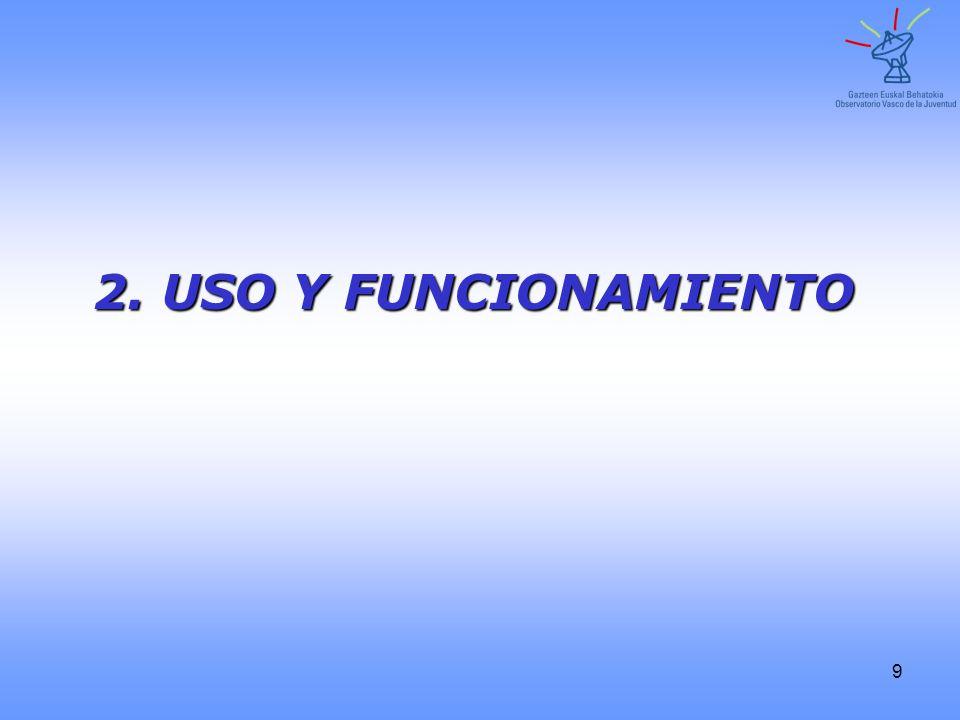 9 2. USO Y FUNCIONAMIENTO