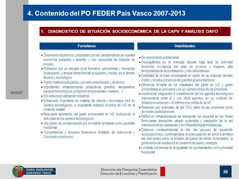 Ekonomia eta Plangintza Zuzendaritza Dirección de Economía y Planificación 20 09/02/07 4.