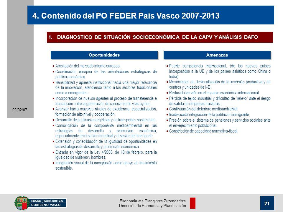 Ekonomia eta Plangintza Zuzendaritza Dirección de Economía y Planificación 21 09/02/07 4.