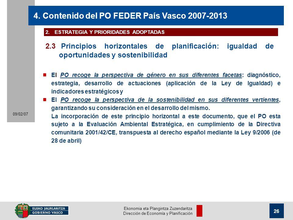 Ekonomia eta Plangintza Zuzendaritza Dirección de Economía y Planificación 26 09/02/07 4.