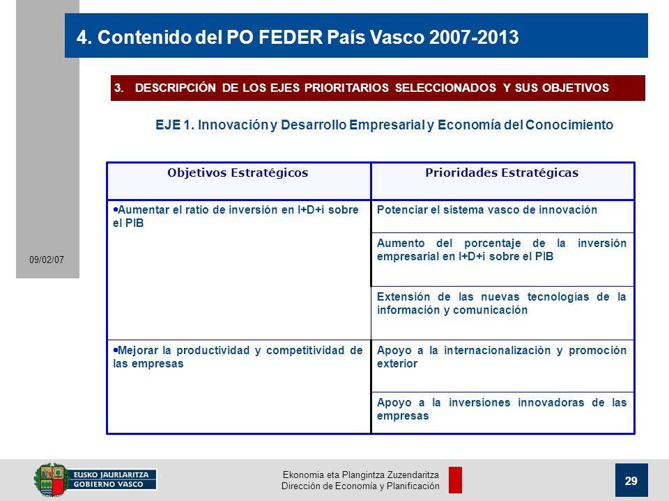 Ekonomia eta Plangintza Zuzendaritza Dirección de Economía y Planificación 29 09/02/07 4.