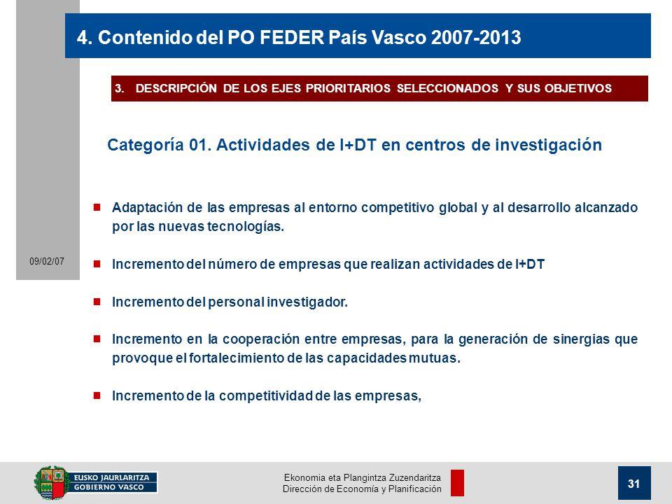 Ekonomia eta Plangintza Zuzendaritza Dirección de Economía y Planificación 31 09/02/07 4.