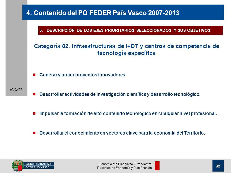 Ekonomia eta Plangintza Zuzendaritza Dirección de Economía y Planificación 32 09/02/07 4.