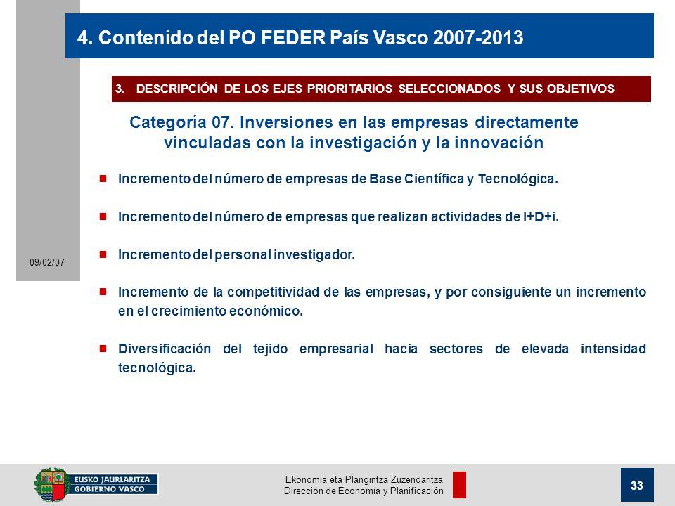Ekonomia eta Plangintza Zuzendaritza Dirección de Economía y Planificación 33 09/02/07 4.