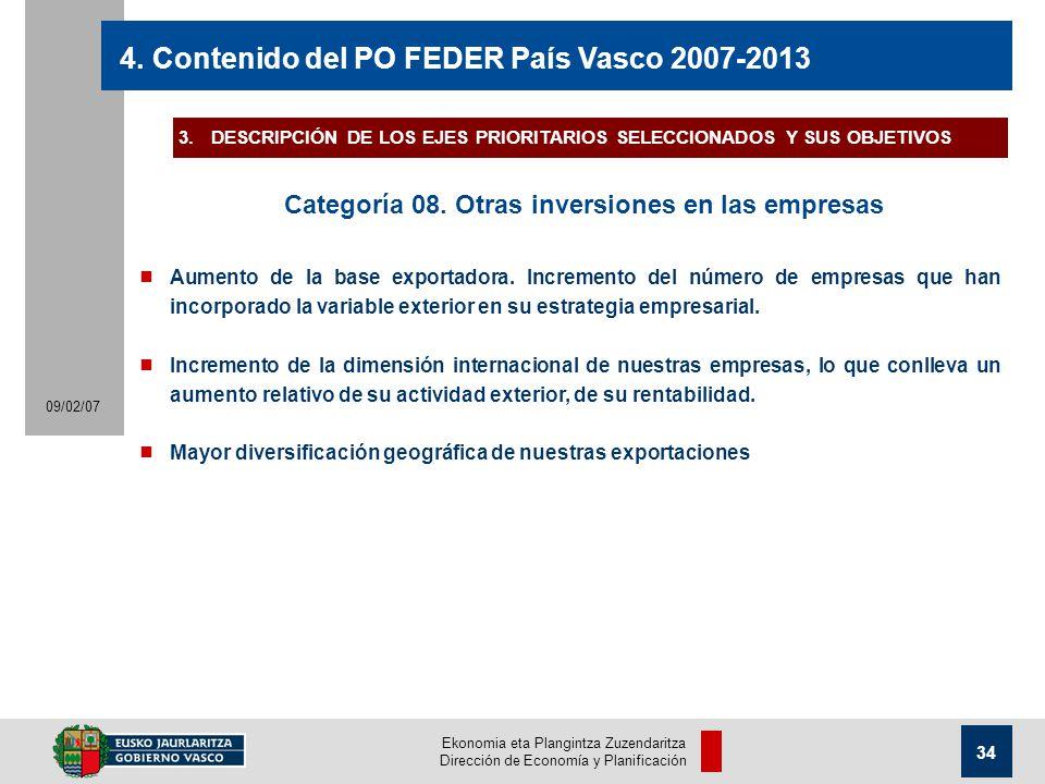 Ekonomia eta Plangintza Zuzendaritza Dirección de Economía y Planificación 34 09/02/07 4.