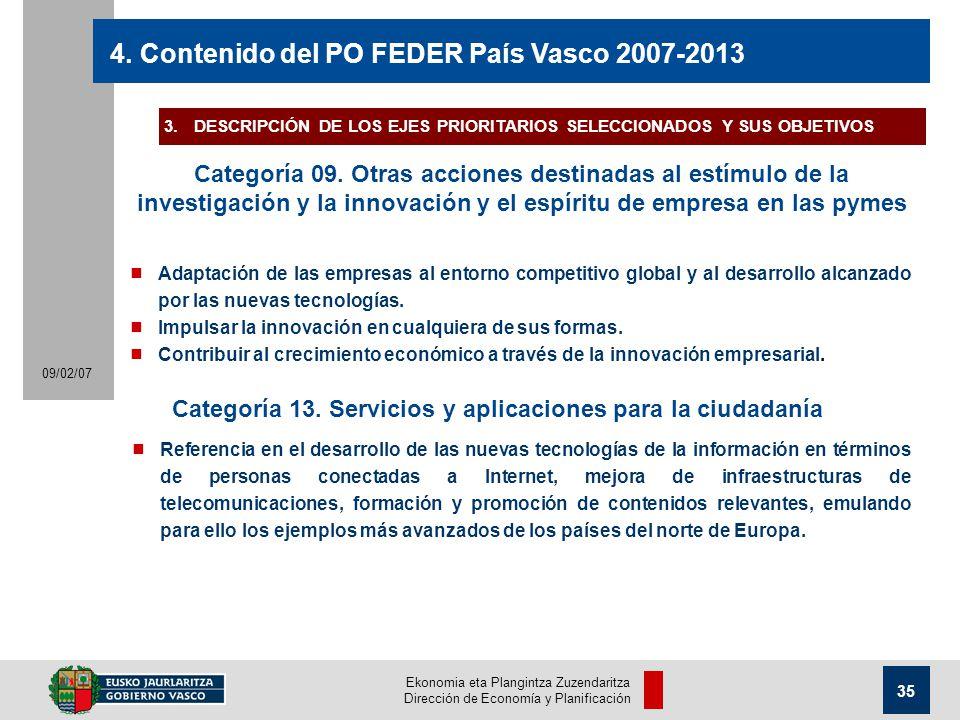 Ekonomia eta Plangintza Zuzendaritza Dirección de Economía y Planificación 35 09/02/07 4.