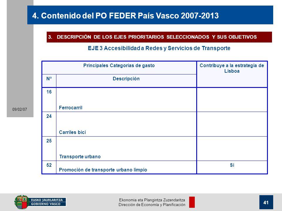 Ekonomia eta Plangintza Zuzendaritza Dirección de Economía y Planificación 41 09/02/07 4.