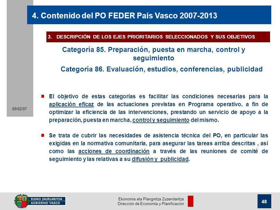 Ekonomia eta Plangintza Zuzendaritza Dirección de Economía y Planificación 48 09/02/07 4.