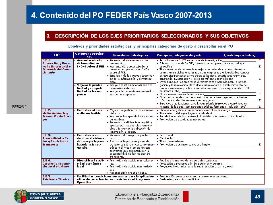 Ekonomia eta Plangintza Zuzendaritza Dirección de Economía y Planificación 49 09/02/07 4.