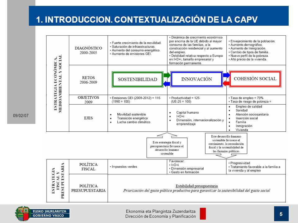 Ekonomia eta Plangintza Zuzendaritza Dirección de Economía y Planificación 5 09/02/07 1.