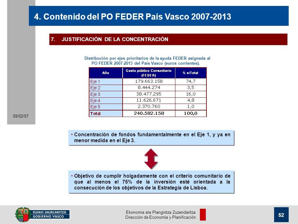Ekonomia eta Plangintza Zuzendaritza Dirección de Economía y Planificación 52 09/02/07 4.