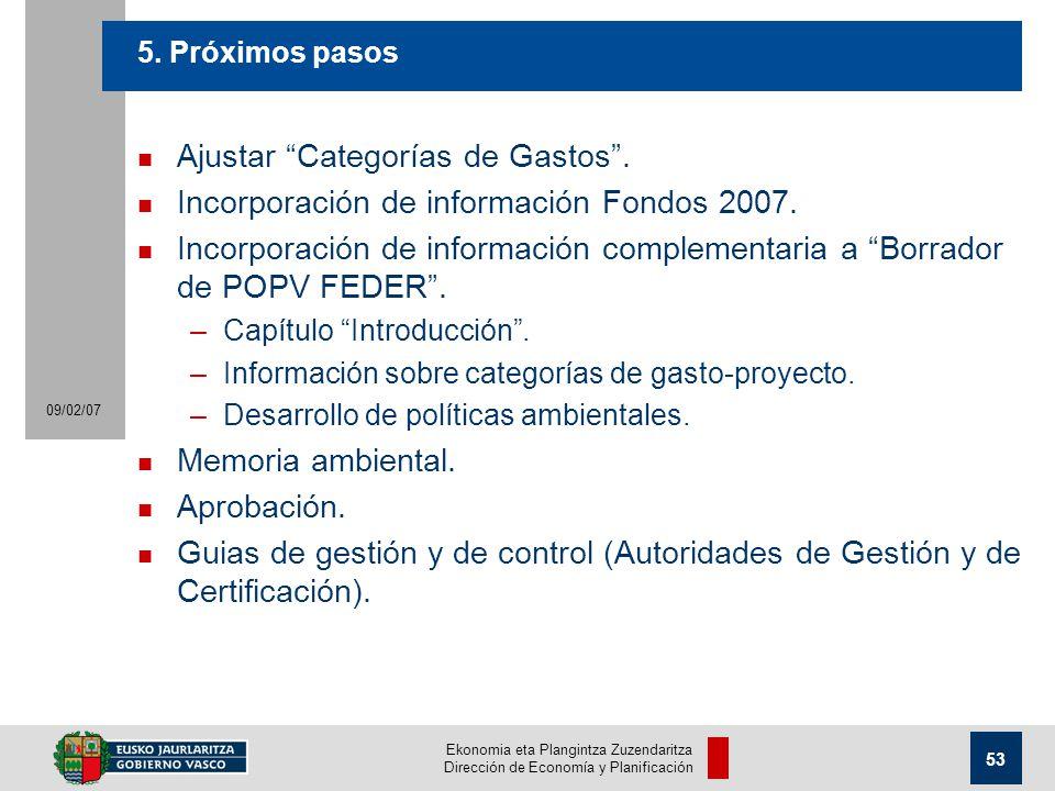 Ekonomia eta Plangintza Zuzendaritza Dirección de Economía y Planificación 53 09/02/07 5.