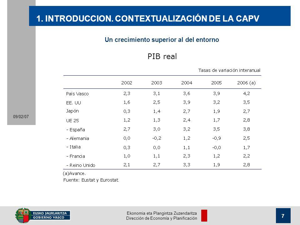 Ekonomia eta Plangintza Zuzendaritza Dirección de Economía y Planificación 7 09/02/07 1.