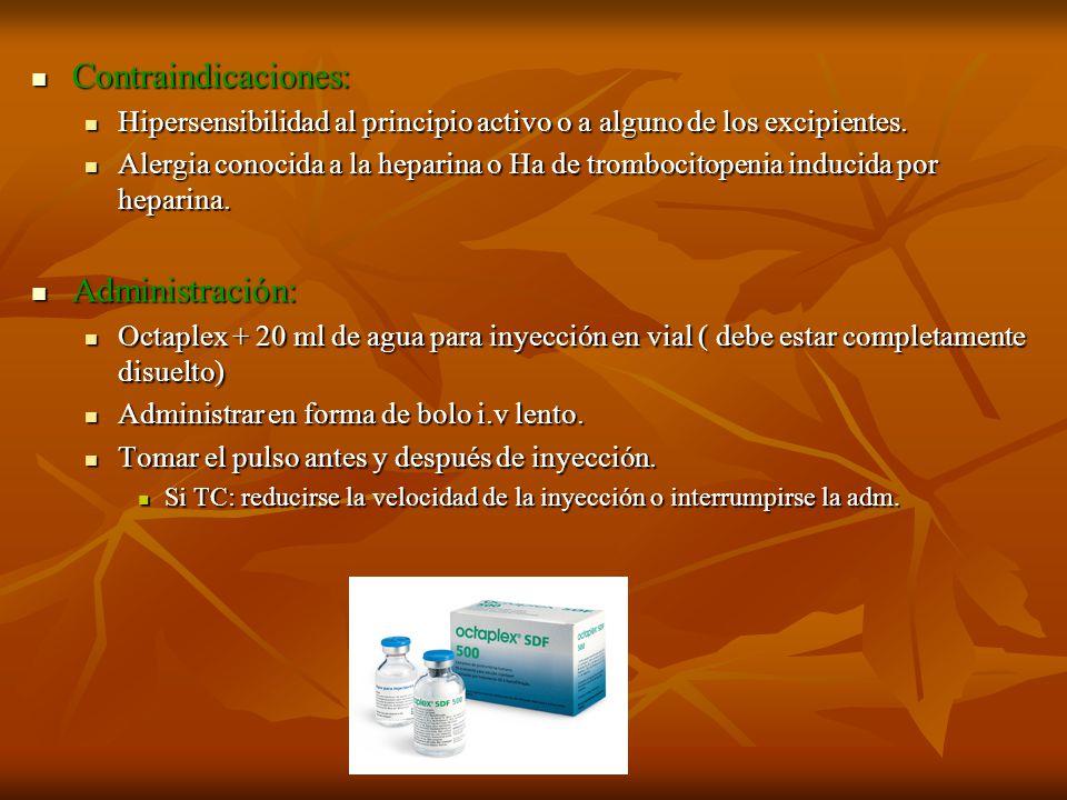 Contraindicaciones: Contraindicaciones: Hipersensibilidad al principio activo o a alguno de los excipientes. Hipersensibilidad al principio activo o a