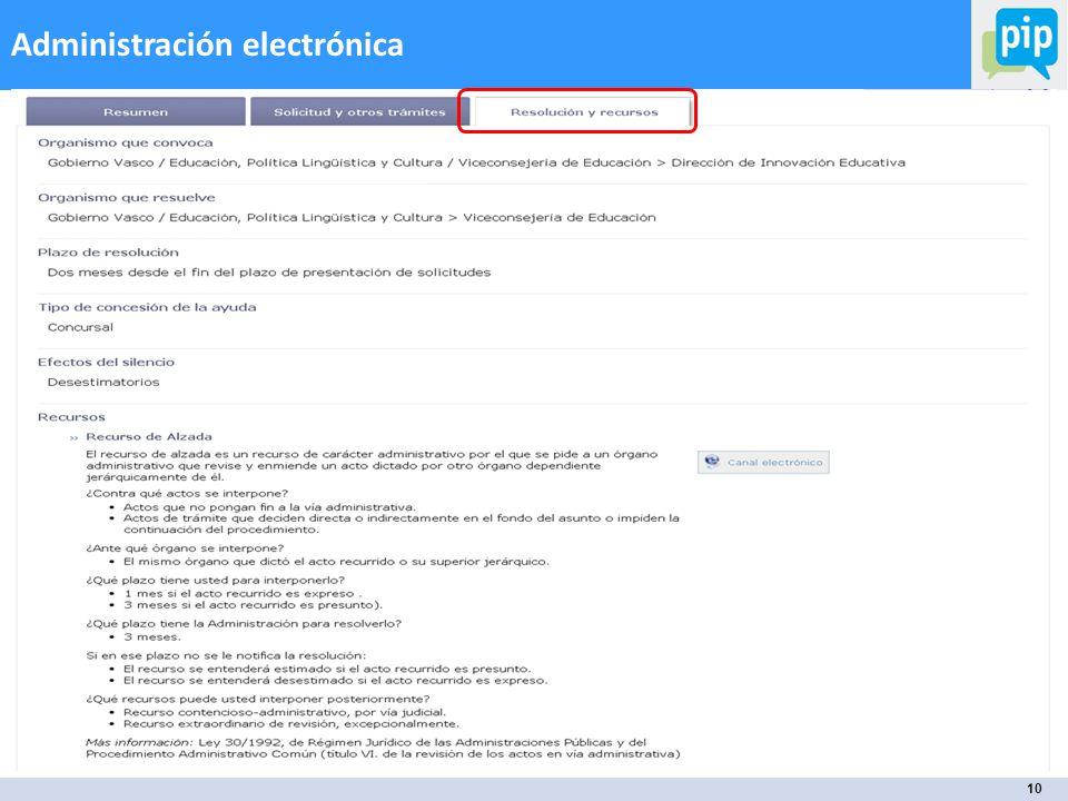 10 Administración electrónica