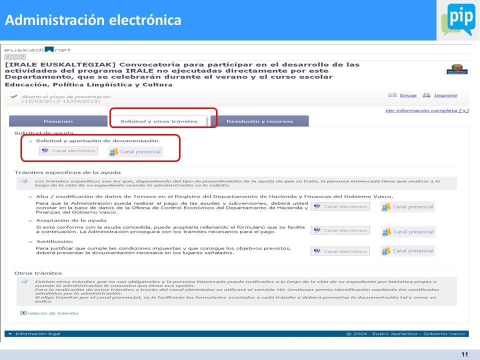 11 Administración electrónica