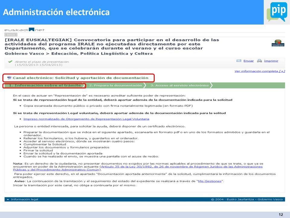 12 Administración electrónica