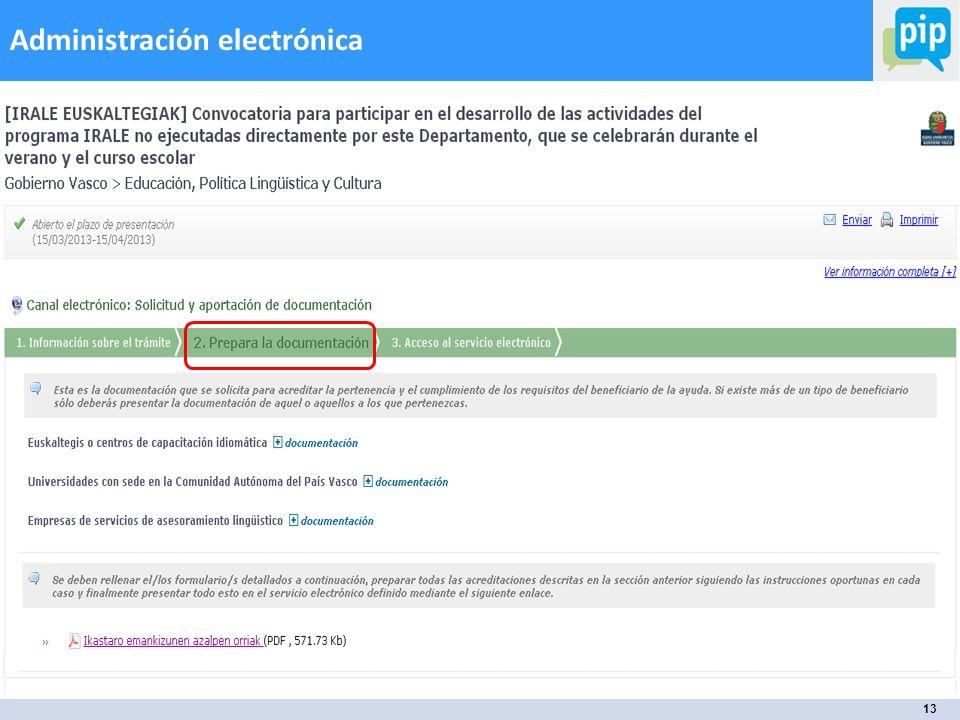 13 Administración electrónica