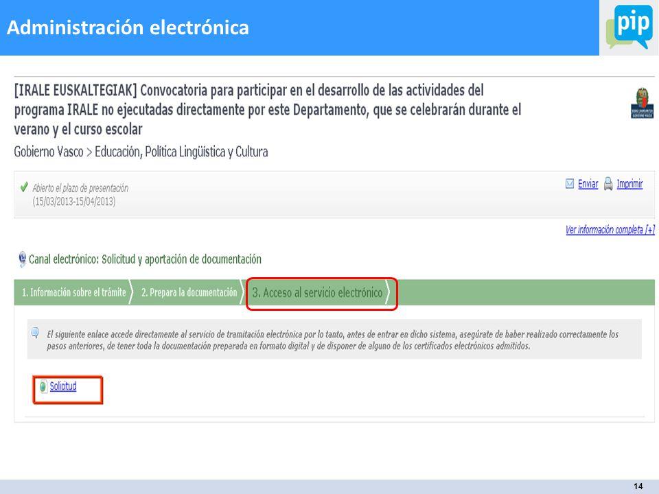 14 Administración electrónica