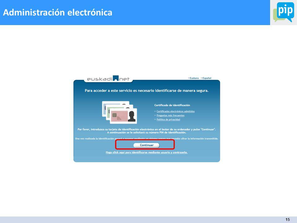 15 Administración electrónica