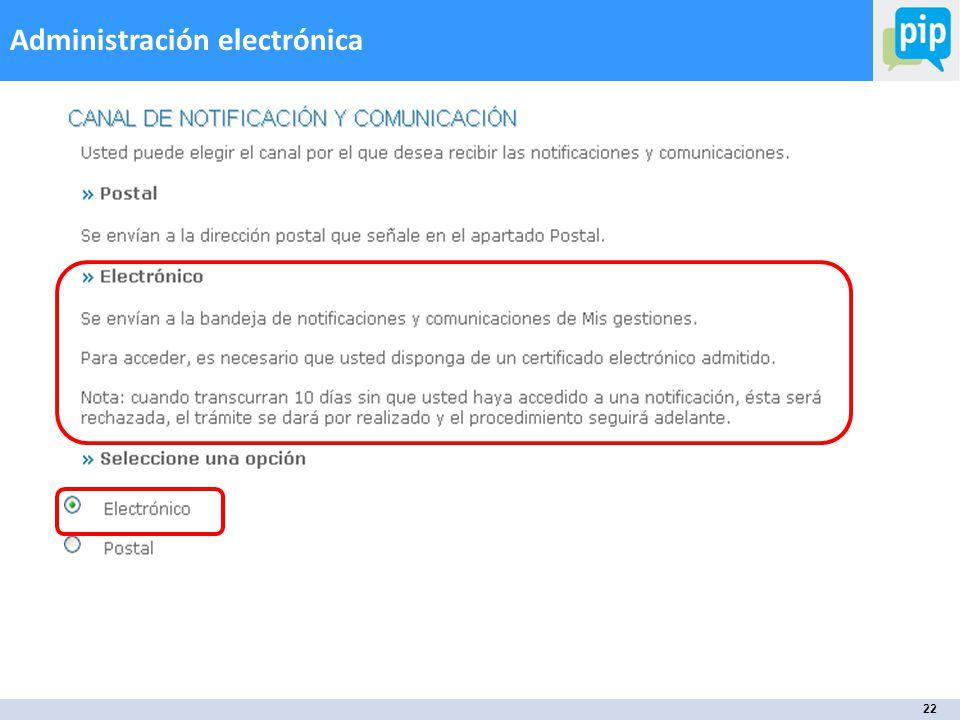 22 Administración electrónica
