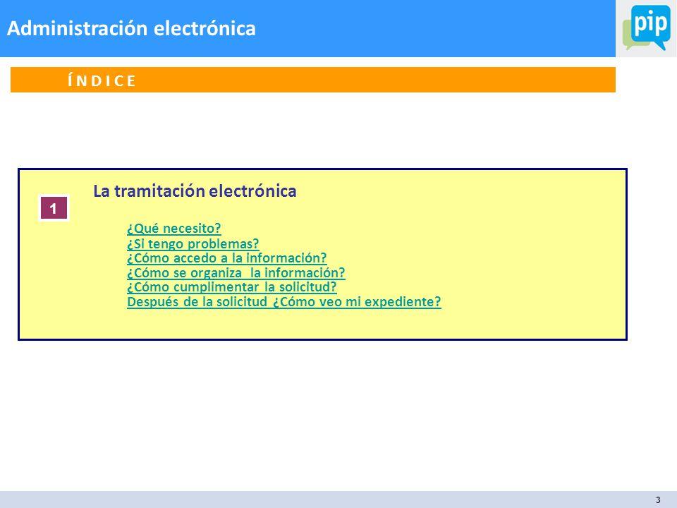 3 Administración electrónica La tramitación electrónica ¿Qué necesito.