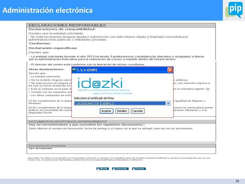 35 Administración electrónica