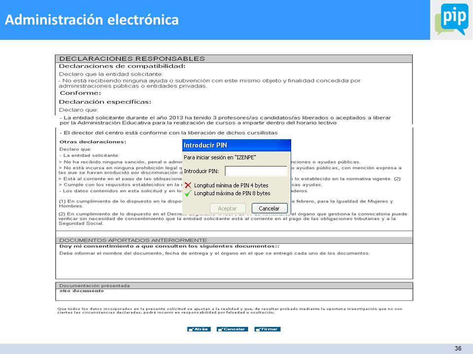 36 Administración electrónica