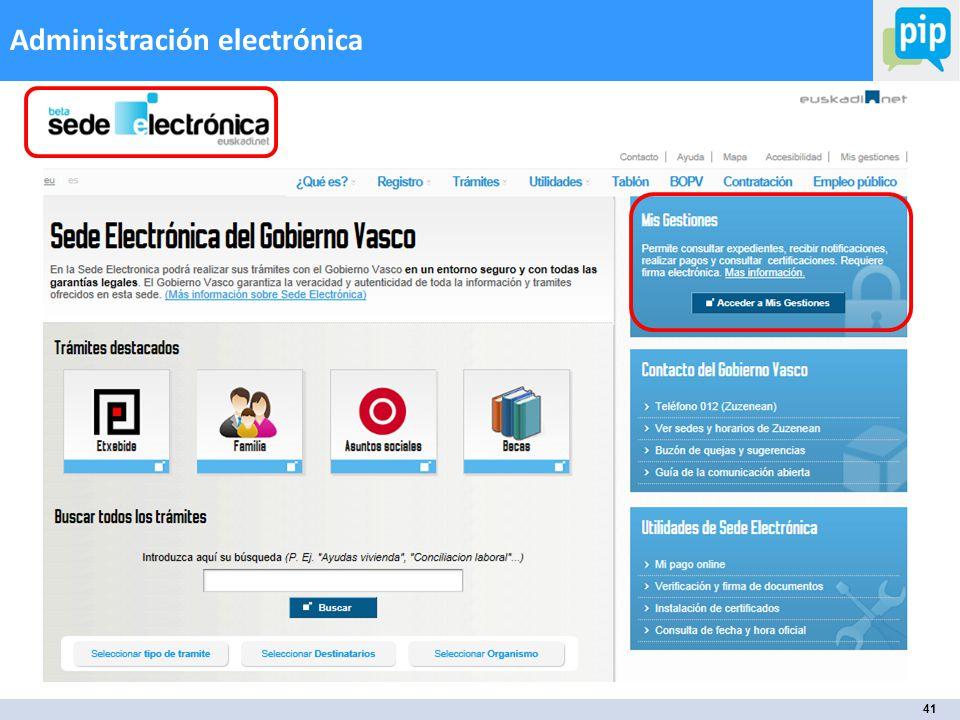 41 Administración electrónica