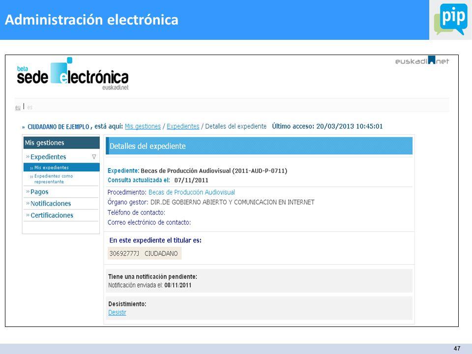 47 Administración electrónica