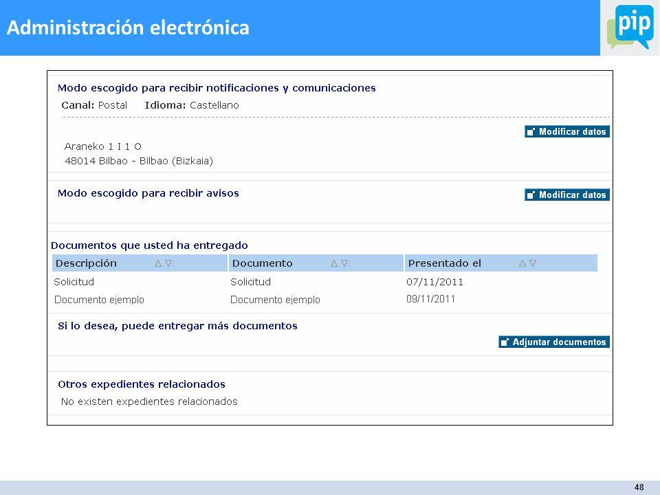 48 Administración electrónica