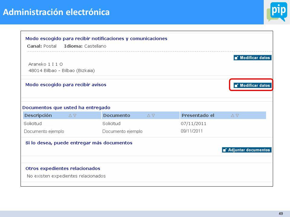 49 Administración electrónica