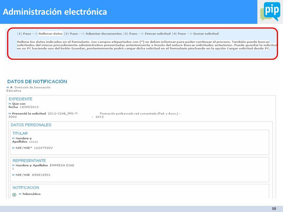 50 Administración electrónica