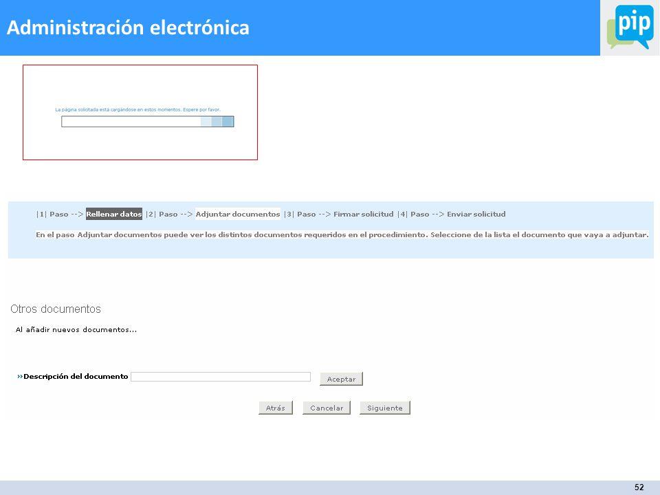 52 Administración electrónica