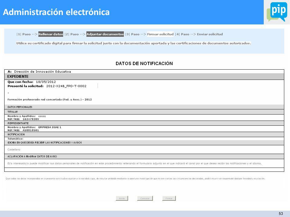 53 Administración electrónica