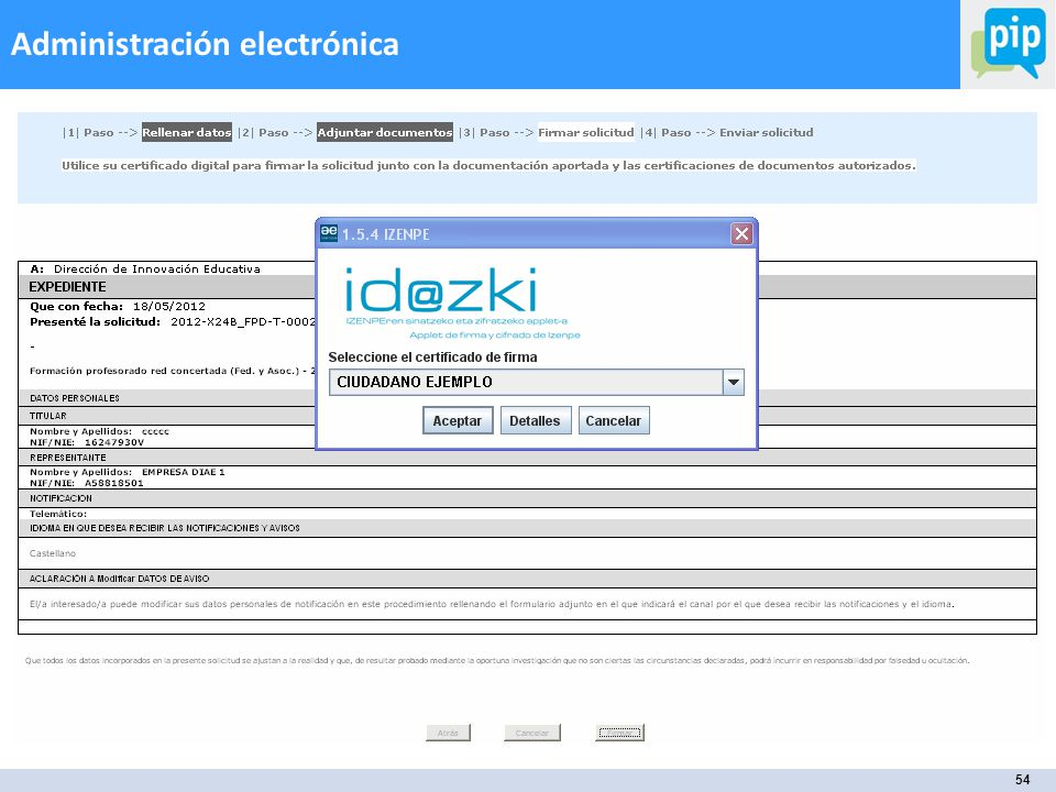 54 Administración electrónica