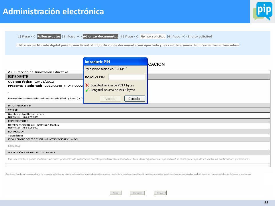 55 Administración electrónica