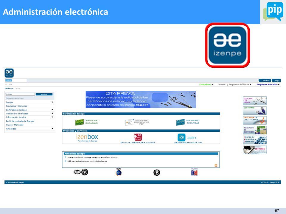 57 Administración electrónica