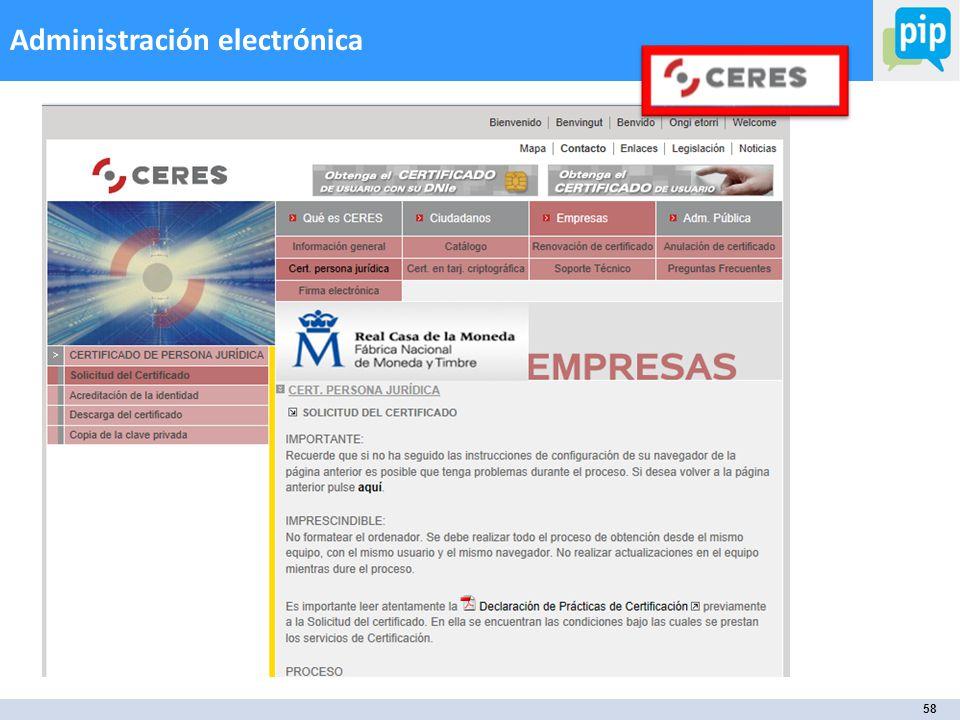 58 Administración electrónica