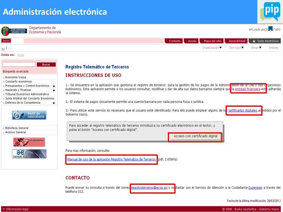 62 Administración electrónica