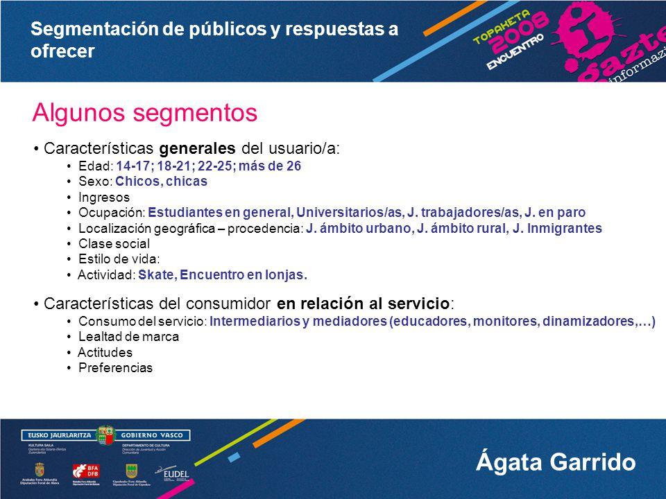 Segmentación de públicos y respuestas a ofrecer Ágata Garrido 1.