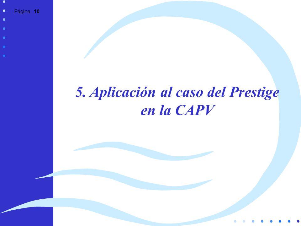 Página 10 5. Aplicación al caso del Prestige en la CAPV