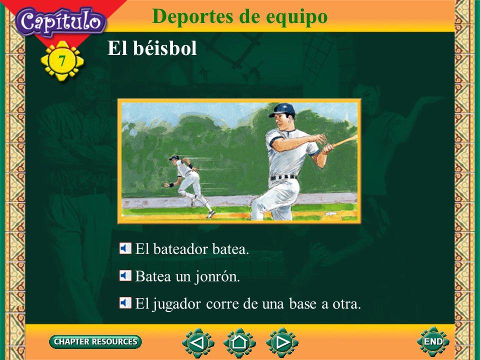 El béisbol Deportes de equipo 7 El cátcher devuelve la pelota.