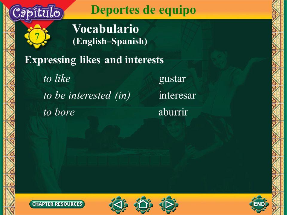 Vocabulario Describing a basketball game el básquetbol, el baloncesto basketball 7 Deportes de equipo basket el cesto, la canasta to dribble driblar t