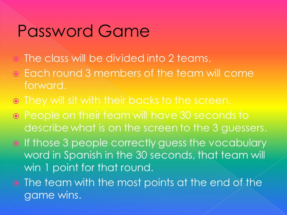 Everyone on your team will be giving clues at the same time, so lets try to keep the chaos organized.