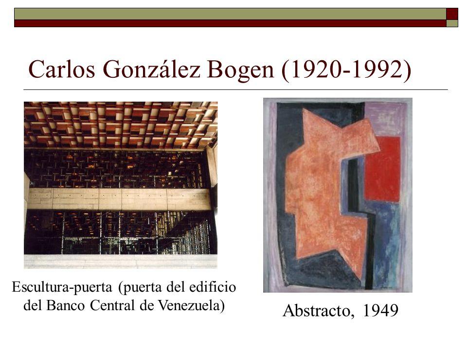 Carlos González Bogen (1920-1992) Abstracto, 1949 Escultura-puerta (puerta del edificio del Banco Central de Venezuela)