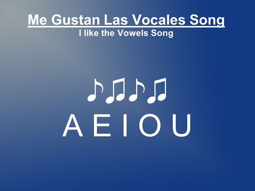 Me Gustan Las Vocales Song I like the Vowels Song A E I O U