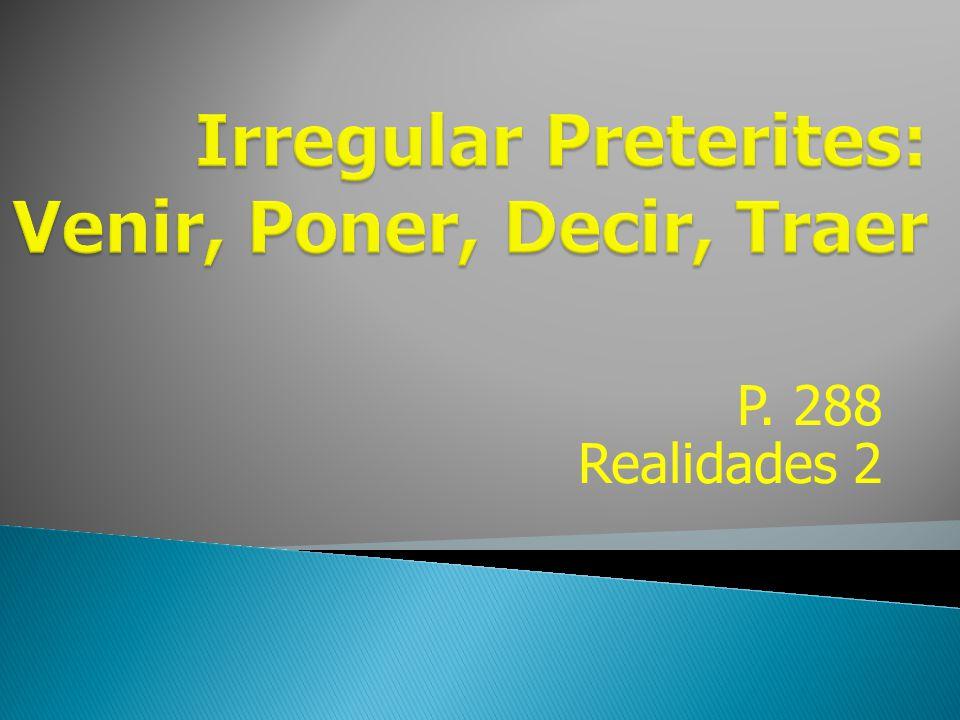 P. 288 Realidades 2
