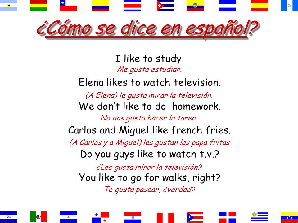¿Cómo se dice.They like history and Spanish. History and Spanish are pleasing to them.