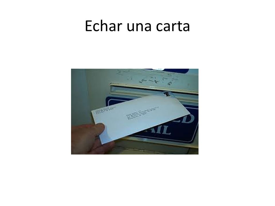 Echar una carta